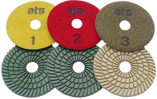 100mm Super Premium 3 Step Wet Diamond Polishing Pads