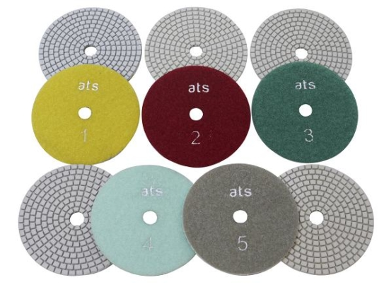 5 Step Flexible White Diamond Polishing pads