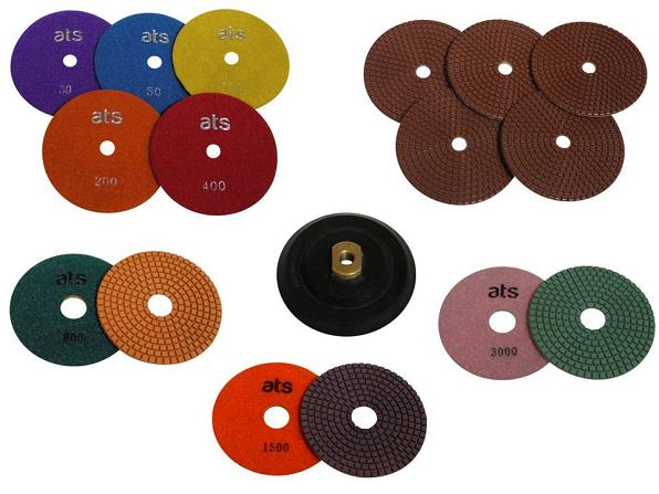 Concrete Worktop Wet Polishing Diamond Disc Kit