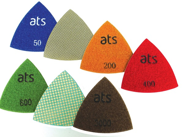 triangle polishing pads