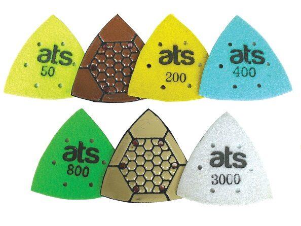 triangle polishing pads