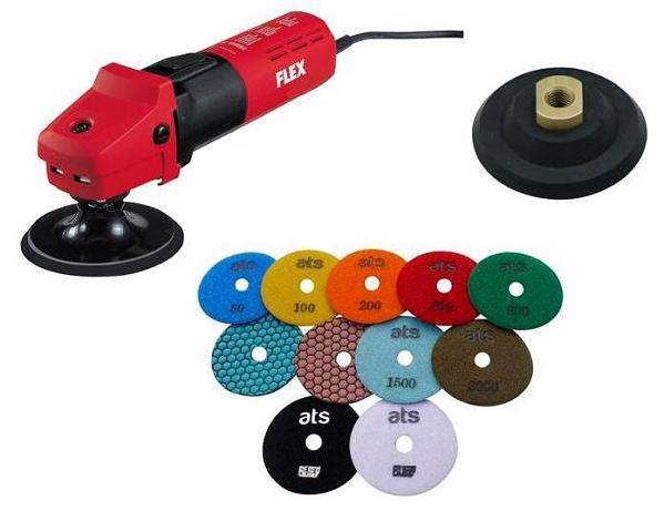 FLEX L1503 Dry Polisher Diamond Pad Starter Set