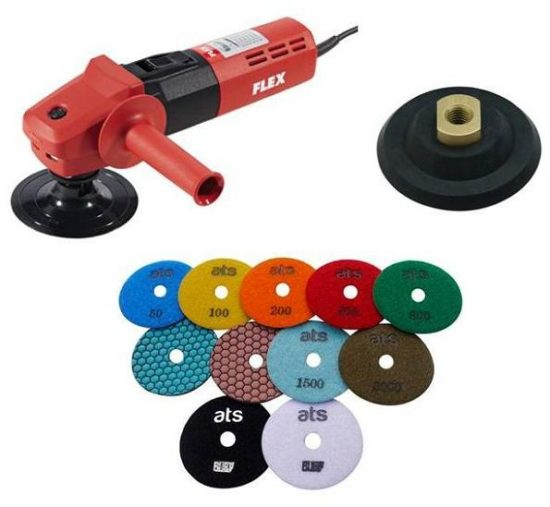 FLEX L1506 Dry Grinder Polisher Diamond Pad Starter Set