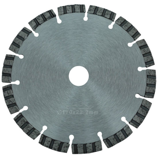 segmented stone cutting blade