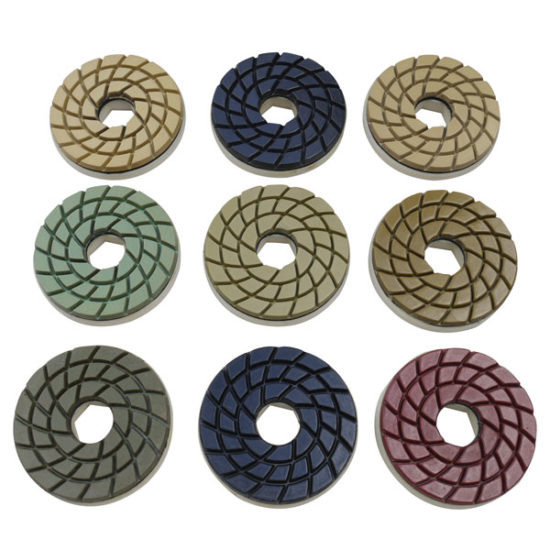 Edge Machine Diamond Polishing Pads Snail Lock Fitting