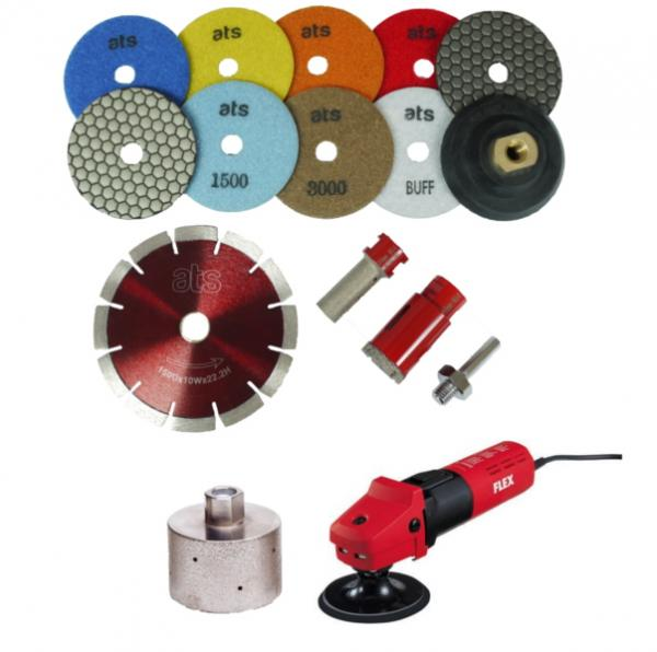 Ats Diamond Tools Granite Worktop Fitting Kit For Kitchen Fitters