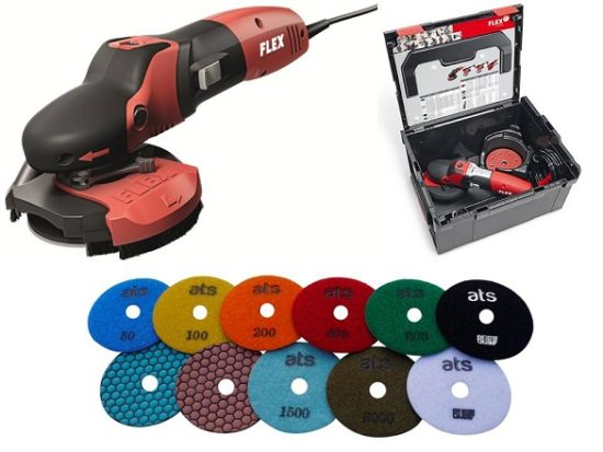 Flex SE14 2 125 SET with Dry Diamond Polishing Pads