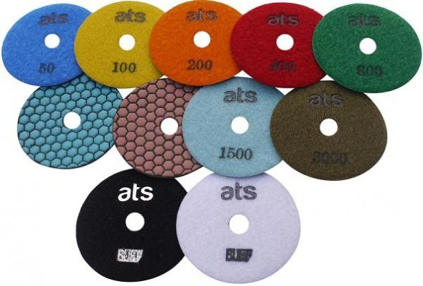diamond polishing pads for stone worktops and floors